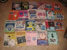 42 PIECES POST 1920 (STANDARD SIZE FORMAT) SHEET MUSIC WITH BAND/ORCHESTRA PHOTO