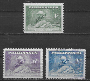 PHILIPPINES , UN , UPU , 1949 , HUMAN RIGHTS , SET OF 3 STAMPS ,  PERF,  VLH/USE