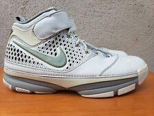 Nike Zoom KOBE II 2 White Metallic Silver Gray Mens Size 9.5 #316022-111 Used