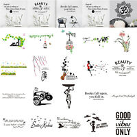 Home Room Decor Art Quote Wall Decal Stickers Bedroom Removable Mural DIY Decal