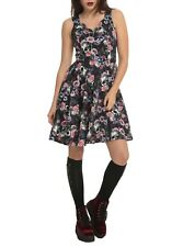 NWT Hell Bunny Women's Floral Skull Cutout Dress - Size Medium