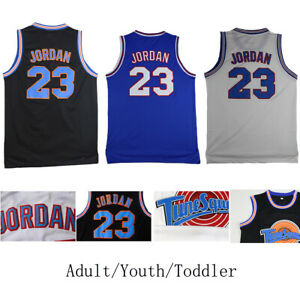Jordan #23 Space Jam Basketball Jerseys Tune Adult Youth Toddler Sizes