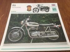 Carte moto Thunderbolt 1971 collection Atlas motorcycle BSA 650 UK