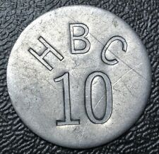 1946 RARE - HUDSON BAY COMPANY ARCTIC FOX FUR TRADE TOKEN 10 cents