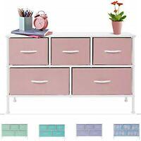 Sorbus Dresser w/ 5 Drawers - Furniture Storage Organizer Unit for Kids Bedroom