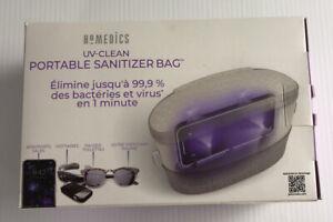 Homedics UV-Clean Portable Sanitizer Bag, Eliminates 99.9% Of Bacteria & Viruses