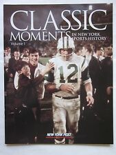 Joe Namath NY Jets on Cover NY Post Classic Moments Magazine 2004
