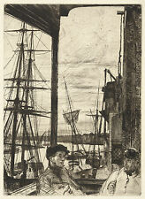 James McNeill Whistler Reproductions: Rotherhitehe (Wrapping) - Fine Art Print