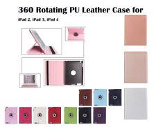 360 Rotate PU Leather Case Cover for Apple iPad 2, iPad 3, iPad 4
