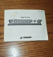 Track & Field II 2 Nintendo NES Instruction Manual Booklet Only Konami