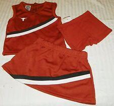 """NEW"" Texas Longhorns ~ CHEERLEADER 3 Pc UNIFORM ~ NCAA Child Sz 3T Burnt Orange"