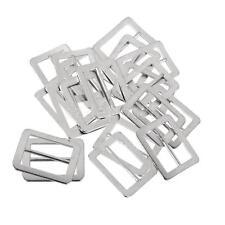 20pcs Metal Triglides Sliding 25mm Webbing Belt Buckles Bag Strap Adjuster
