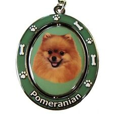 Pomeranian Dog Spinning Key Chain Fob