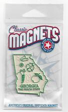 "GEORGIA""  THE PEACH STATE""    GA     OUTLINE MAP MAGNET in Souvenir Bag, NEW"