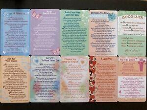 SENTIMENTAL VERSE KEEPSAKE WALLET CARDS for PURSE WALLET OR CARDHOLDER MAN WOMAN