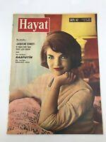 HAYAT (LIFE) #42 - Turkish Magazine - 1960s - JACQUELINE KENNEDY COVER - Bardot