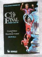 1990 FA Cup FINAL- CRYSTAL PALACE v MANCHESTER UNITED Excellent Condition- ORG*