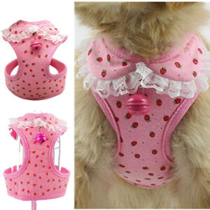 Girl Dog Harness Size Small Female Pet Puppy Apparel Clothing Pink for Chihuahua