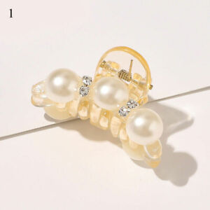 Lovely Pearl Hair Claw Clip Big Size Rhinestone Hair Clips For Women Accessories