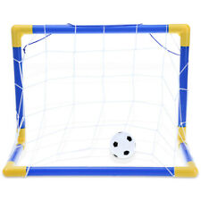Mini Football Soccer Goal Post Net Set Pump Training In/ Outdoor Sport Kids Toys
