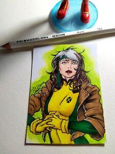 Rogue (Cosmotrama AP Sketch card) 1/1 original art by David River - Fanart