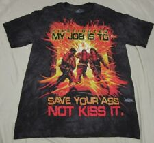 The Mountain Firefighter My Job Is To Save Your Ass Not Kiss It T-Shirt sz Small