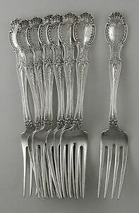 Sterling Tiffany & Co. RICHELIEU lunch forks (1892) set of 4
