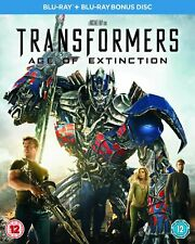 Transformers: Age of Extinction [Blu-ray + Bonus Disc] Mark Wahlberg blockbuster