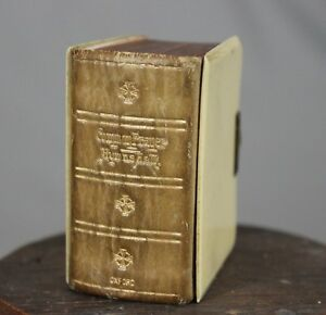 Antique Miniature Mica Book of Common Prayer and Hymns c1904