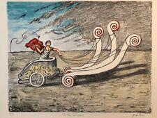 La Biga Invincibile, 1969 Original Hand Signed Lithograph by Giorgio De Chirico