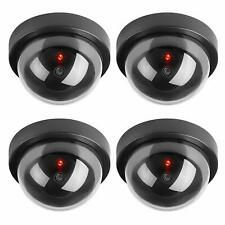 4 x Fake Dummy Wireless CCTV Dome Camera Security Outdoor LED Red Flashing Light
