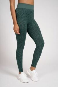 South Beach Green Leopard Print Quality Gym Leggings Loungewear / Activewear
