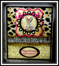 Chihuahua Dog Retired(U get photo#2) L@K@examples Art Impressions Rubber Stamps