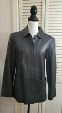 Brooks (Brothers) Women's Leather Jacket Coat in Black Sz  S  As IS
