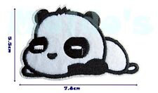 Panda Cute Iron Patch Sew Applique Badge Embroidered Bear Animal Black White 57