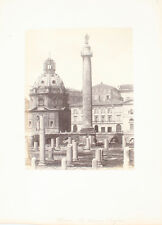 ALBUMEN PHOTO OF TRAJANS COLUMN - ROME, ITALY