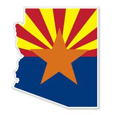 ARIZONA STATE USA MAP SILHOUETTE FLAG VINYL CAR VAN IPAD LAPTOP STICKER