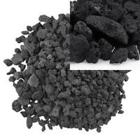 American Fire Glass Medium Sized Black Lava Rock – Porous, All-Natural, 1/2 Inch