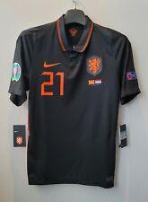 2020 HOLLAND Away S/S No.21 F.DE JONG EURO vs Macedonia 20-21 jersey shirt KNVB