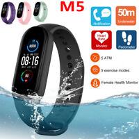 M5 Smart Watch Band Heart Rate Blood Pressure Monitor Tracker Fitness Bracelet