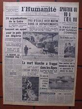 ▬►L'HUMANITÉ 7 FÉVRIER 1961 SPOUTNIK_MAURICE RONET_BRIGITTE BARDOT_ACTUALITÉS