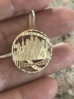 14K YELLOW GOLD METS CHARM PENDANT By Michael Anthony MA 3 Grams