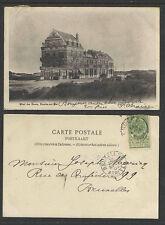 1903 HOTEL des DUNES KNKOCKE sur MER BELGIUM UNDIVIDED BACK POSTCARD