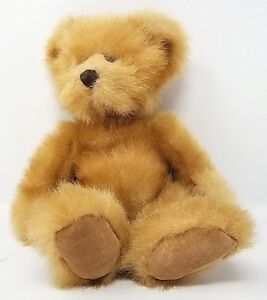 Pennington Russ Teddy Bear brown sued feet pads 15 inch Stuffed Animal Toy Gift