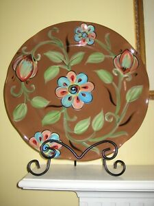 Southern Living at Home Gail Pittman Cottage Garden Collection Platter & Stand