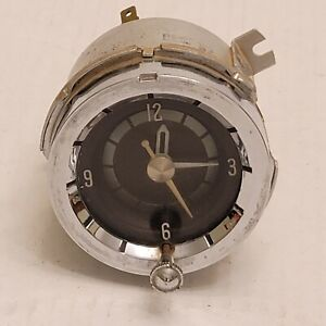 1958 Pontiac Dashboard Clock Geo W Borg Corp Original Factory OEM Star Chief