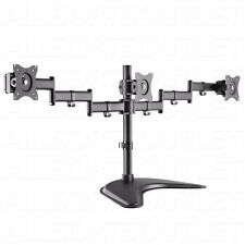 Triple Monitor LCD Scrivania Stand Mount Arm non associate regolabile 3 schermi 15-27""