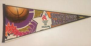 Vintage Atlanta 1996 Olympic Summer Games Basketball Unique Pennant