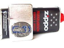 1x Original Zippo Benzin & 1 Sturmfeuerzeug Fire Fighter Benzinfeuerzeug Emblem