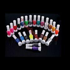 24 Colors Mix Colors Pure Glitter 2 Way Nail Art Tips Brush Pen Varnish Polish